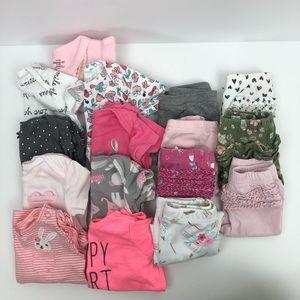 Carter's Onesies Pants Baby Girl Pink Ruffles 3 mo